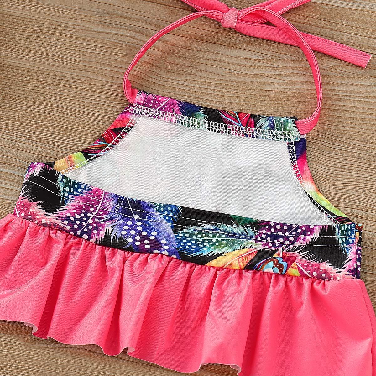 RUSHAIBAR Baby//Toddler Girls Bikini 2-Piece Swimsuit with Feather