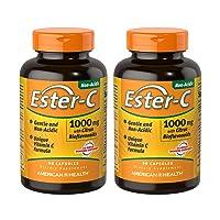 American Health Ester C Capsule, 1000 Mg - 90 per Pack (2 Packs per Case)