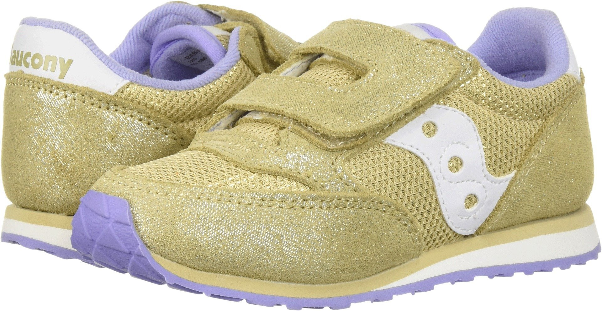 Saucony Girls' Baby Jazz HL Sneaker, Gold/Spark, 9.5 Medium US Toddler