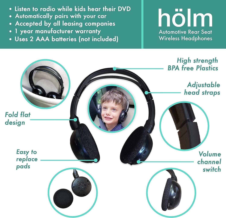 2 Channel IR Ford Explorer Folding Wireless Headphones 2001 to present