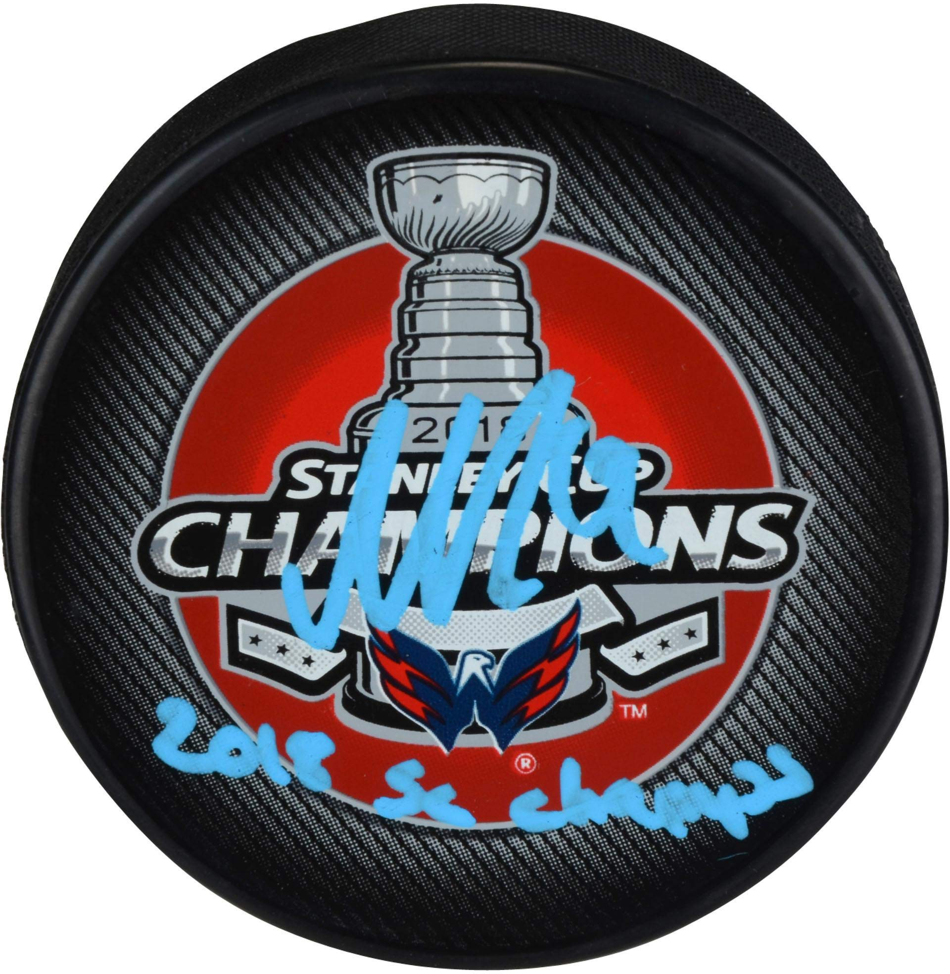 Nicklas Backstrom Washington Capitals 2018 Stanley Cup Champions Autographed Stanley Cup Champions Logo Hockey Puck with 2018 SC Champs Inscription Fanatics Authentic Certified