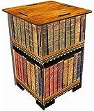 Werkhaus SH8183 Photohocker Motiv antike Bücher Hocker, MDF, bunt, 29.5 x 29.5 x 42 cm