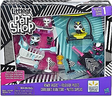Littlest Pet Shop HAS-C2452A - Littlest Pet C2452 - Shop Rowdy Racers - Edición Especial - 5 Mascotas
