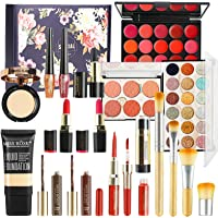 Professional Makeup Set,MKNZOME Cosmetic Starter Kit With Storage Bag Portable Travel Make Up Palette Birthday Xmas Gift…