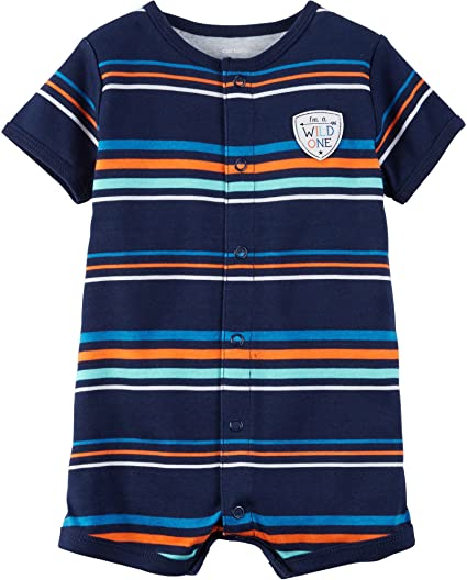 0e4b1bd6c528b Amazon.com: Carter's Baby Boys' Striped Snap Up Romper Newborn: Clothing