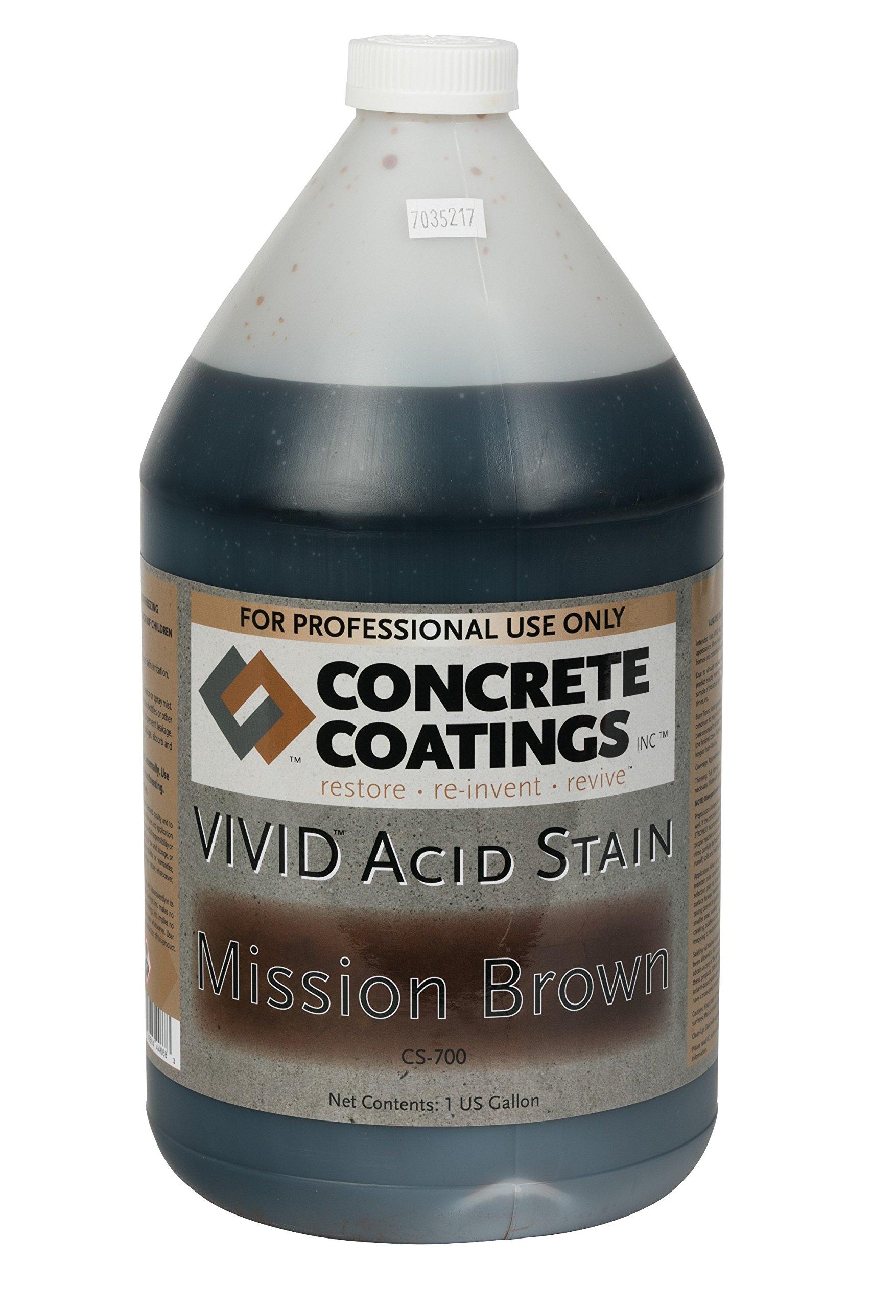 VIVID Acid Stain - 1 Gal - Mission Brown (Rich, Medium Rusty Brown)