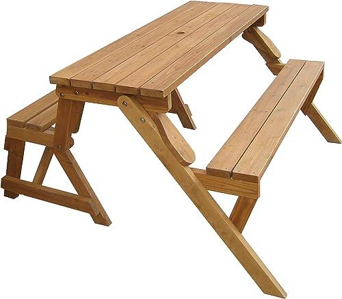 Merry Garden Interchangeable Wooden Picnic Garden Bench Outdoor Patio Dining Table