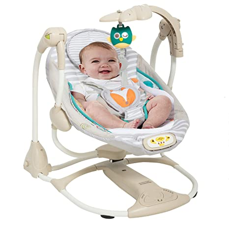 Buy Baybee Baby Cradle With Automatic Gentle Swing Beige White