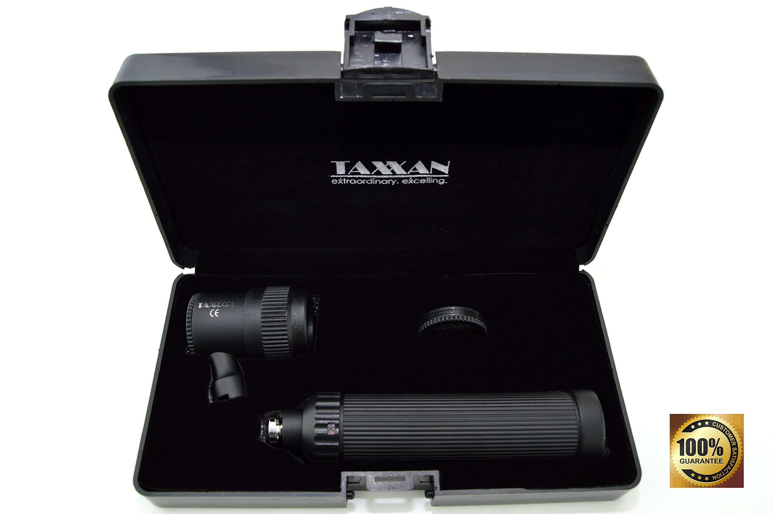 TAXXAN BLACK DERMATOSCOPE SKIN DIAGNOSTIC SET 10X ZOOMABLE LENSE WITH SCALE