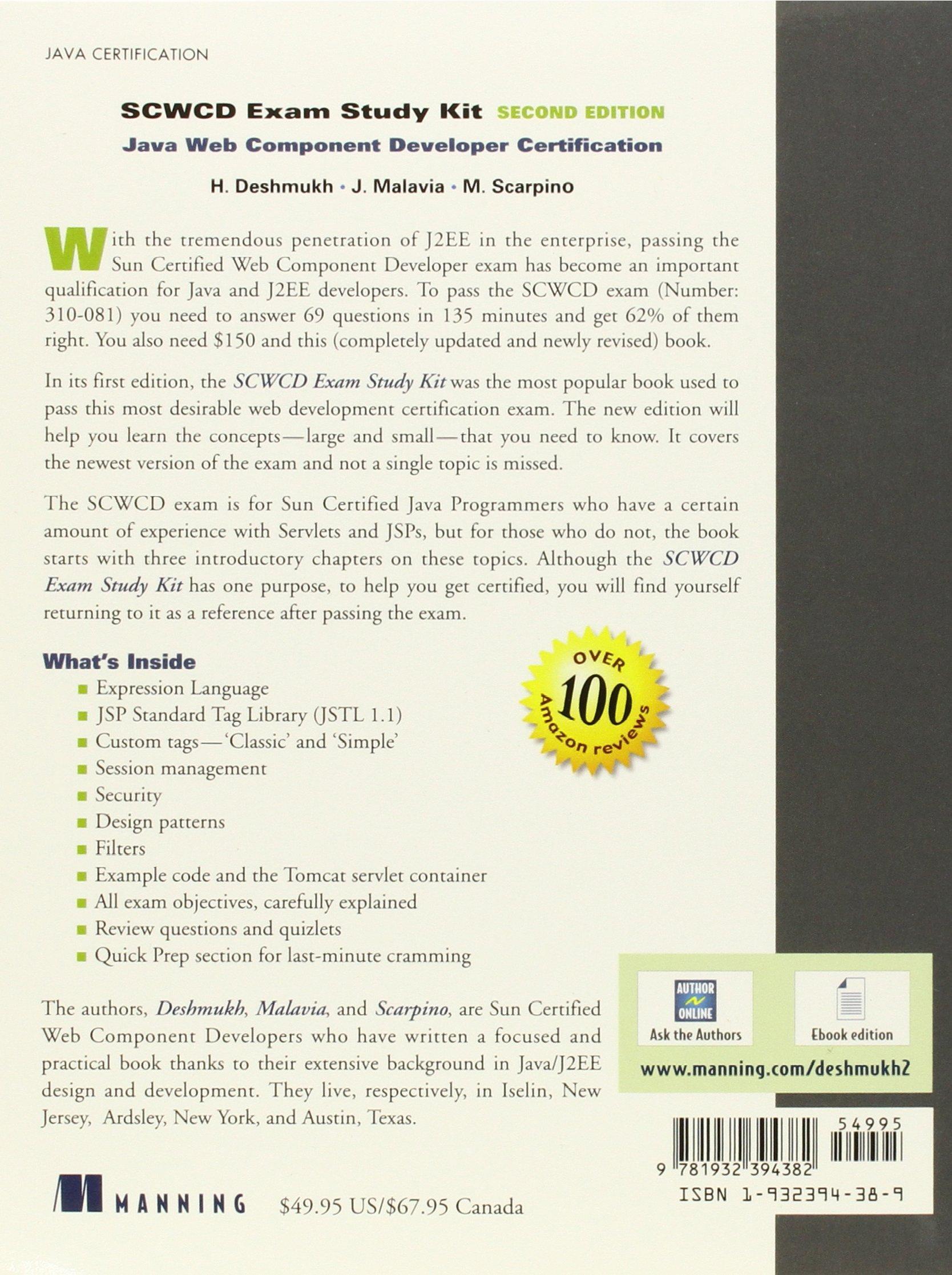 Scwcd exam study kit second edition java web component scwcd exam study kit second edition java web component development certification amazon mr hanumant deshmukh 9781932394382 books 1betcityfo Image collections
