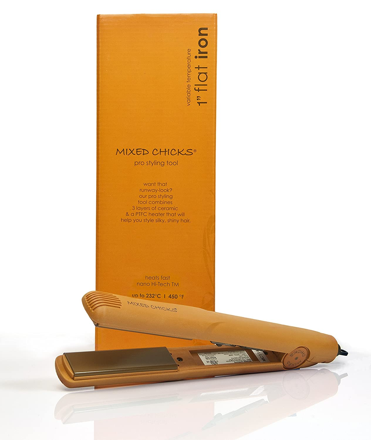 Mixed Chicks Variable Temperature Ceramic Flat Iron, 1 Inch