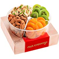 Holiday Dried Fruit & Nut Gift Basket, Red Box Meduim (4 Mix) - Thanksgiving, Christmas Food Arrangement Platter…