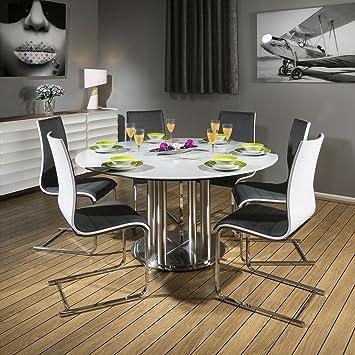 Dia Quatropi Tisch 6 X Set EsstischRund 150 Corian Grau Cm 34q5RLAj