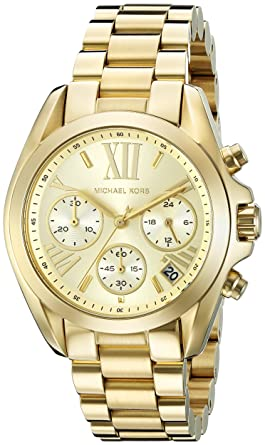 afa4607612cc Image Unavailable. Image not available for. Color  Michael Kors Women s  Bradshaw Gold-Tone Watch MK5798