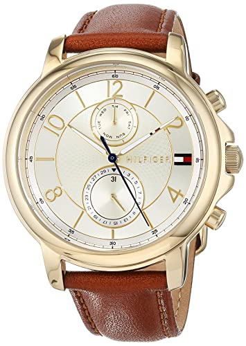 5b2a239beaac62 Tommy Hilfiger Womens Multi dial Quartz Watch with Leather Strap 1781818   Amazon.co.uk  Watches