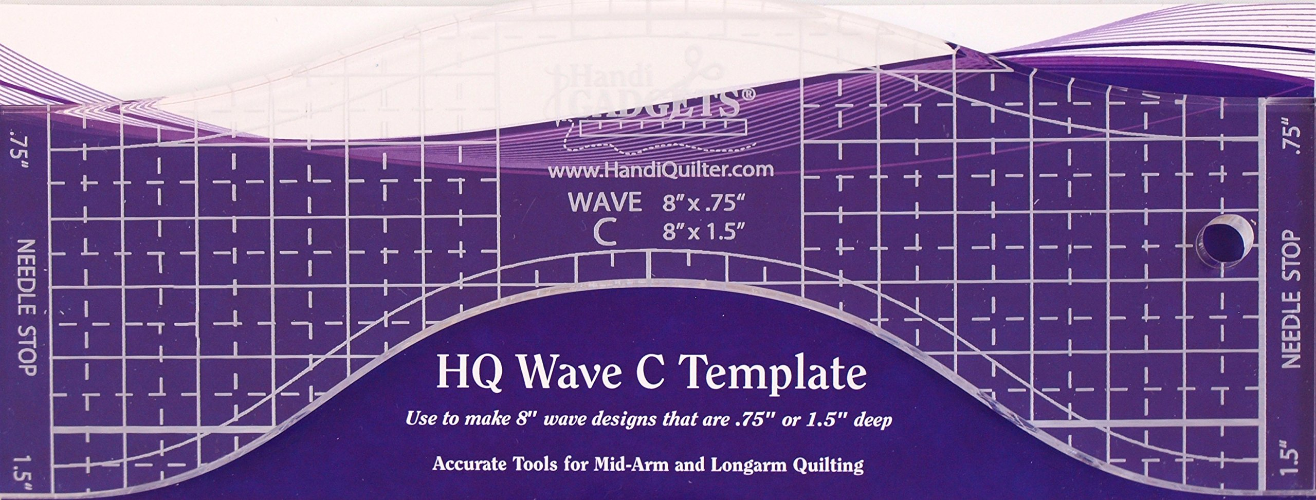 Hq Wave C Longarm Template by Handi gadgets