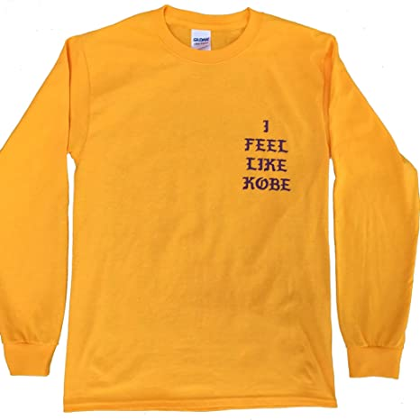 Amazon.com   Kanye West I Feel Like Kobe Hip Hop Long Sleeve Shirt ... 8233338ae