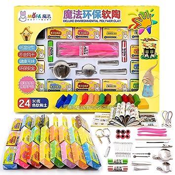 Mofa 24 colores 30 g arcilla polimérica con herramientas, para ...