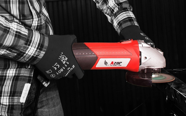 ergonomique variateur de vitesse 6.000/ /11,000/RPM rouge//noir bastilipo aa-4547/Mini meuleuse dangle 900/W 230/V 900/W capacit/é Disque 125/mm