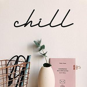Vinyl Wall Art Decal - Chill - 4.5