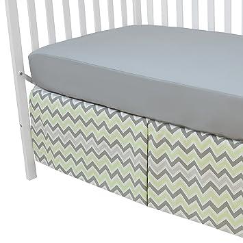 American Baby Company Fashion Crib Skirt Celery Dots