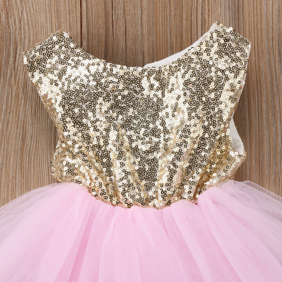 Emmababy Baby Girls Sleeveless Flower Wedding Pageant Princess Bowknot Party Dress Infant Lace Tutu Dresses 0-5Years