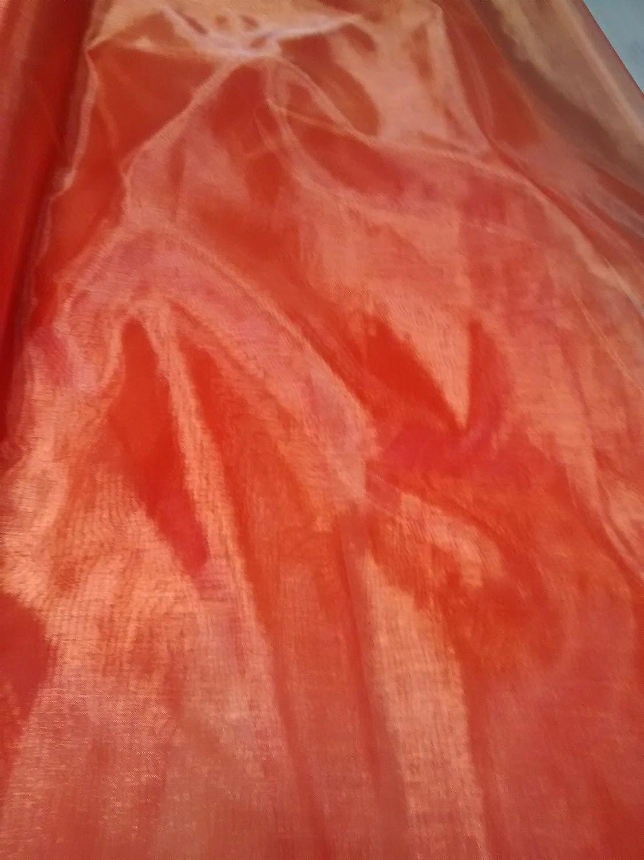 Organza fabric 15 - red orange - by the metre by BIG DO CO LTD   B004KQDACA