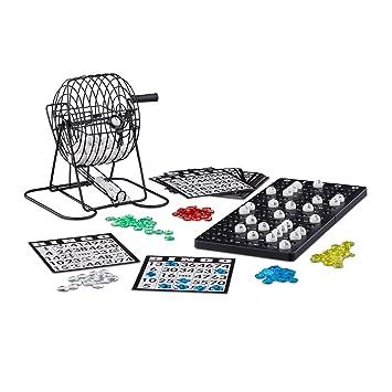 Relaxdays - Juego de Bingo con Jaula de Metal 61f6c5fb4c511