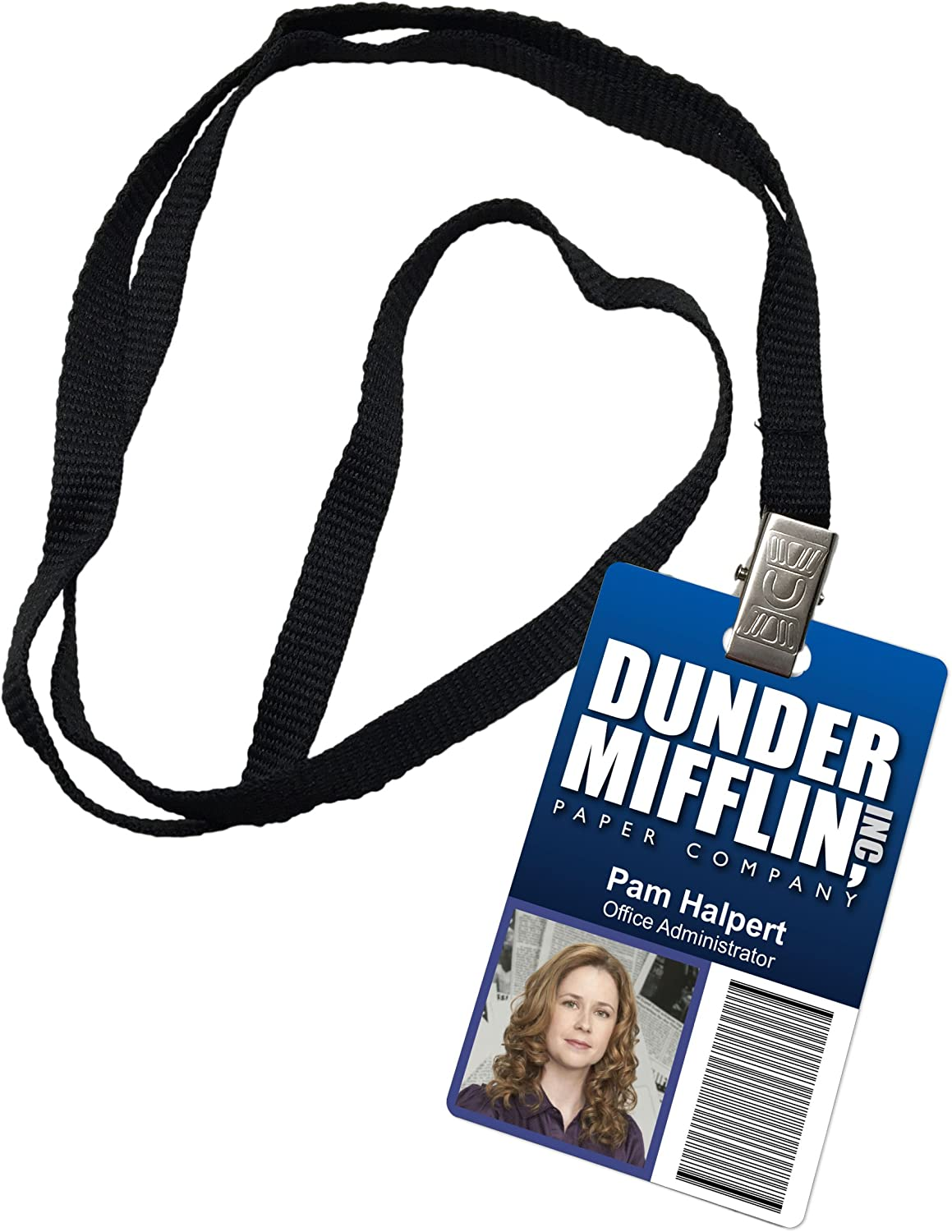 Pam Halpert Dunder Mifflin Inc. Novelty ID Badge The Office Prop Costume