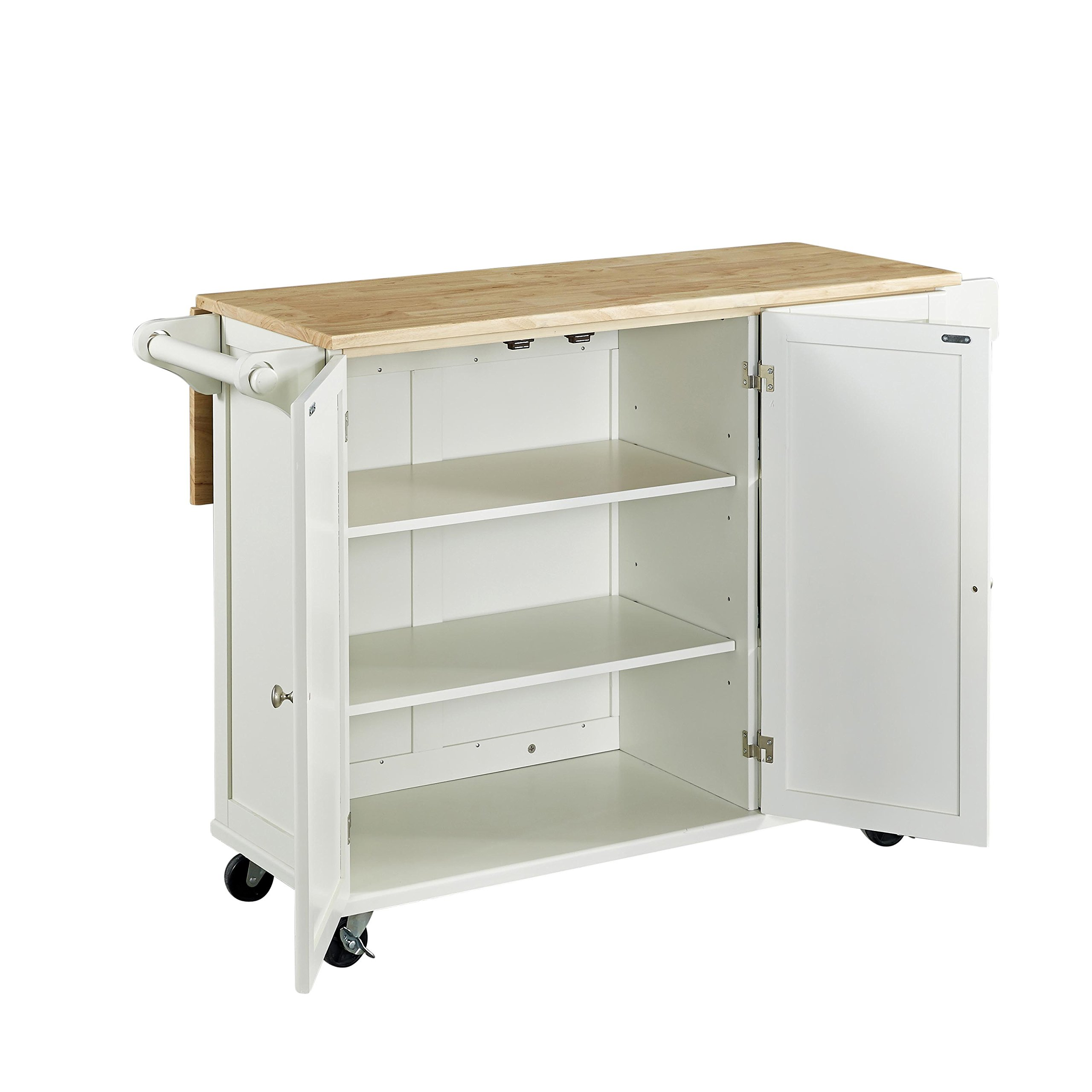 Home Styles 4511-95 Liberty Kitchen Cart with Wood Top, White by Home Styles (Image #9)