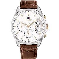 Tommy Hilfiger Men's Analog Quartz Watch with Leather Strap 1710450