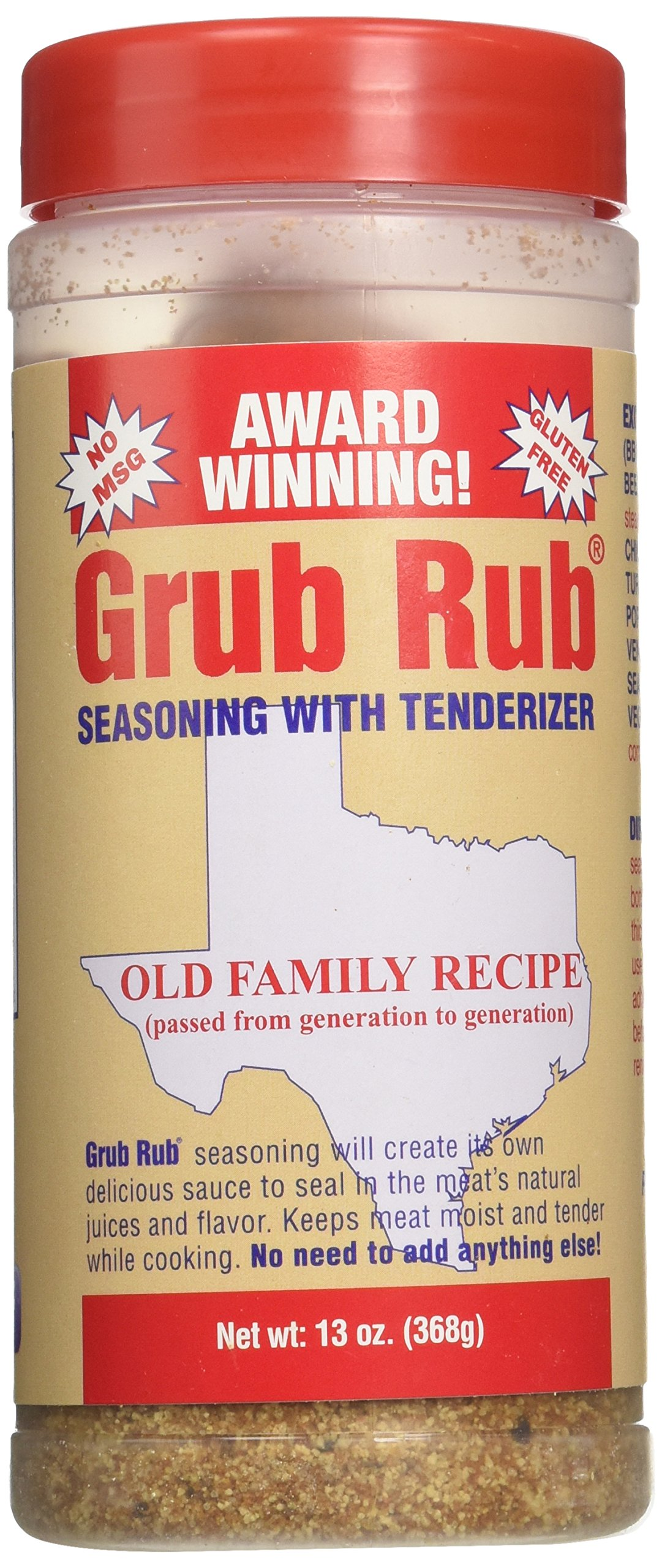 Gordon's Seasoning Grub Rub, 13-Ounce (Pack of 3) by Gordon (Image #1)