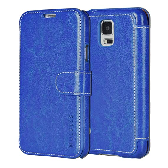low priced 3537c 4955f Amazon.com: Mulbess Samsung Galaxy S5 Leather Case - S5 Wallet Case ...