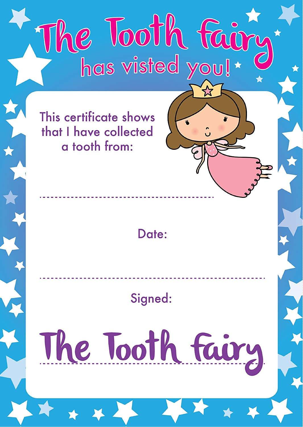 picture about Free Printable Tooth Fairy Certificate identify Enamel Fairy Certificates