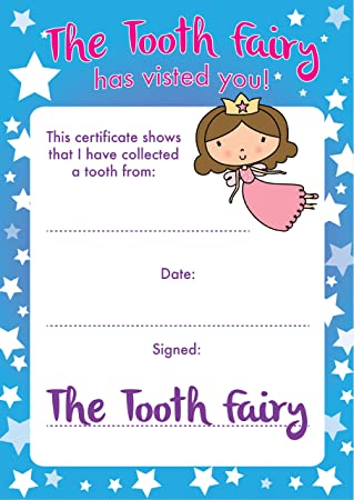 photo regarding Printable Tooth Fairy Certificate called Enamel Fairy Certificates