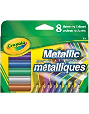 Crayola Metallic Markers, Adult Colouring, Bullet Journaling, School and Craft Supplies, Drawing Gift for Boys and Girls, Kids, Teens Ages 5, 6,7, 8 and Up, Holiday Toys, Stocking , Arts and Crafts,  Gifting