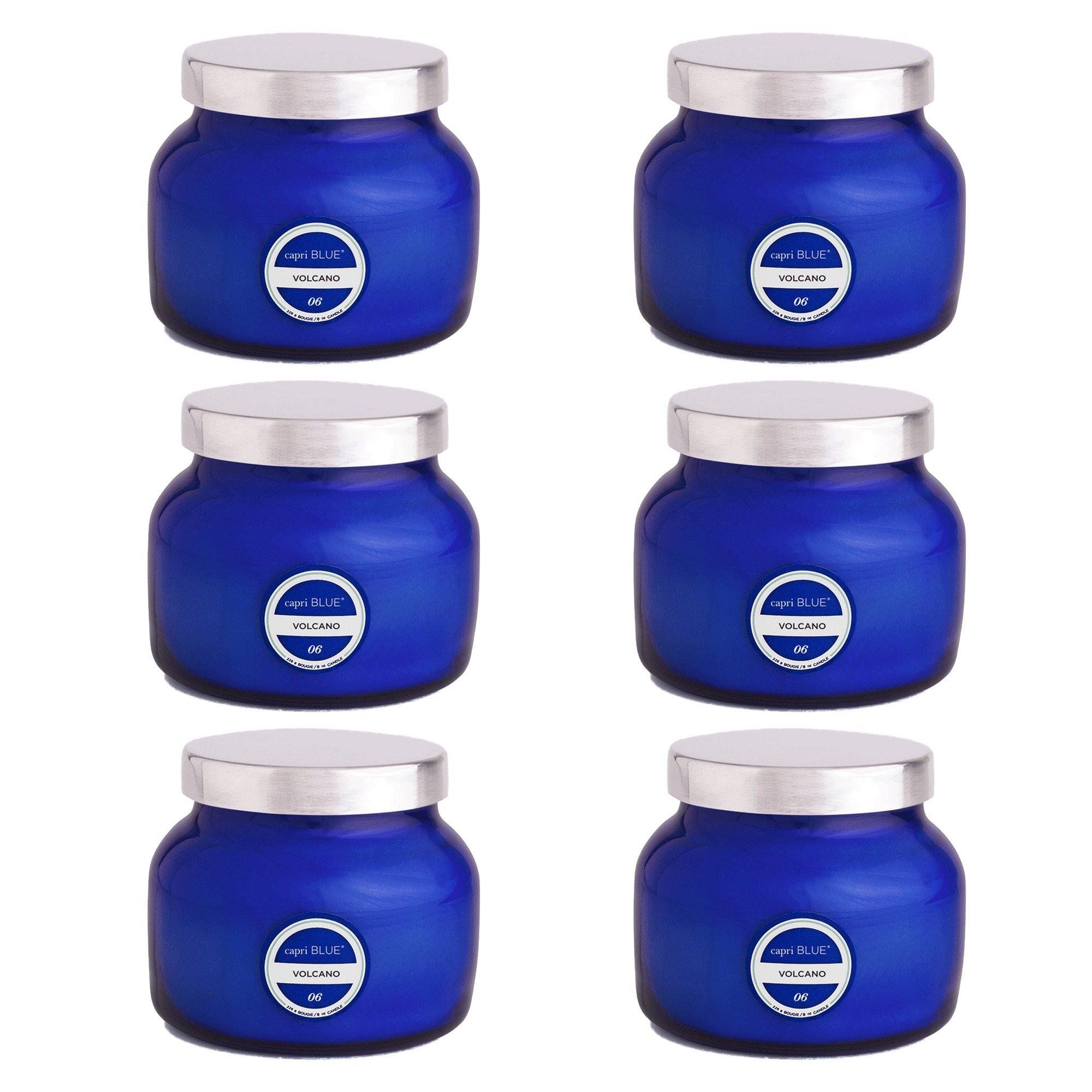 Capri Blue 8 oz Signature Petite Blue Jar Volcano (6 pack), Assorted, One Size by Capri Blue