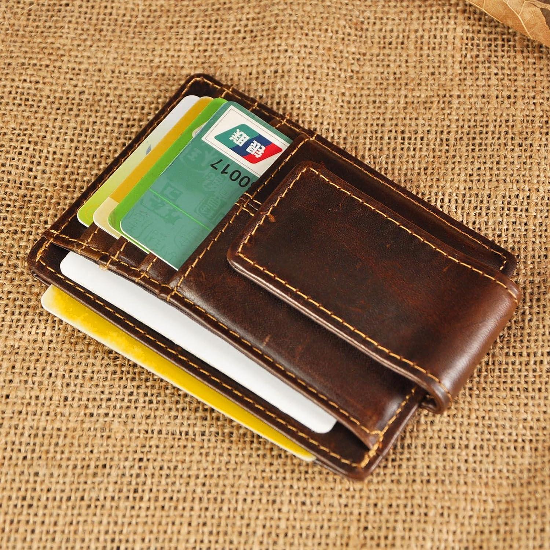 Leaokuu Portefeuille Petit Porte-Monnaie Mince avec Blocage Piratage Protection RFID Porte Carte de Cr/édit Hommes 1015 A Caf/é 3