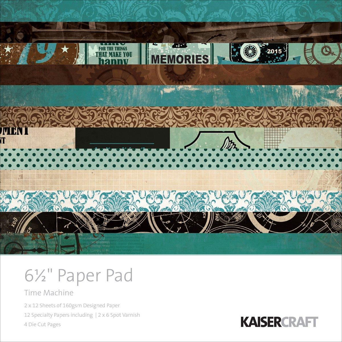 Kaisercraft Paper Pad 6.5x6.5 40/Pkg-Time Machine by Kaisercraft