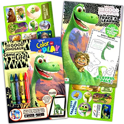 Amazon.com: Disney Dinosaur Coloring Book Super Set Kids Toddler ...