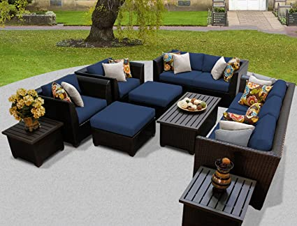 Amazon Com Tk Classics Barbados 12 Piece Outdoor Wicker Patio