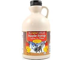 Old Fashioned Maple Crest - Original 100% Pure Maple Syrup, Grade A, Very Dark, 1 Litre