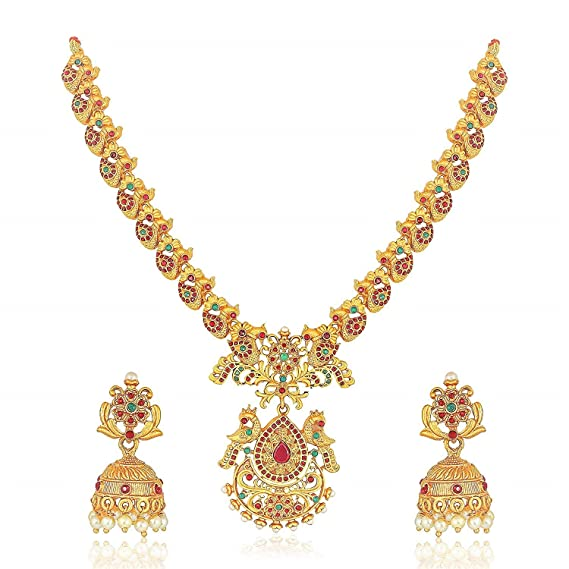 south indian jewelry indian jewelry Designer Mangalsutra Temple Jewelry Full Set Bridal jewelry matte gold necklace traditional jewelry