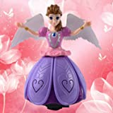 Saisan Dancing Angel Girl Baby Toy For Kids With Lights And Music - Multi Color