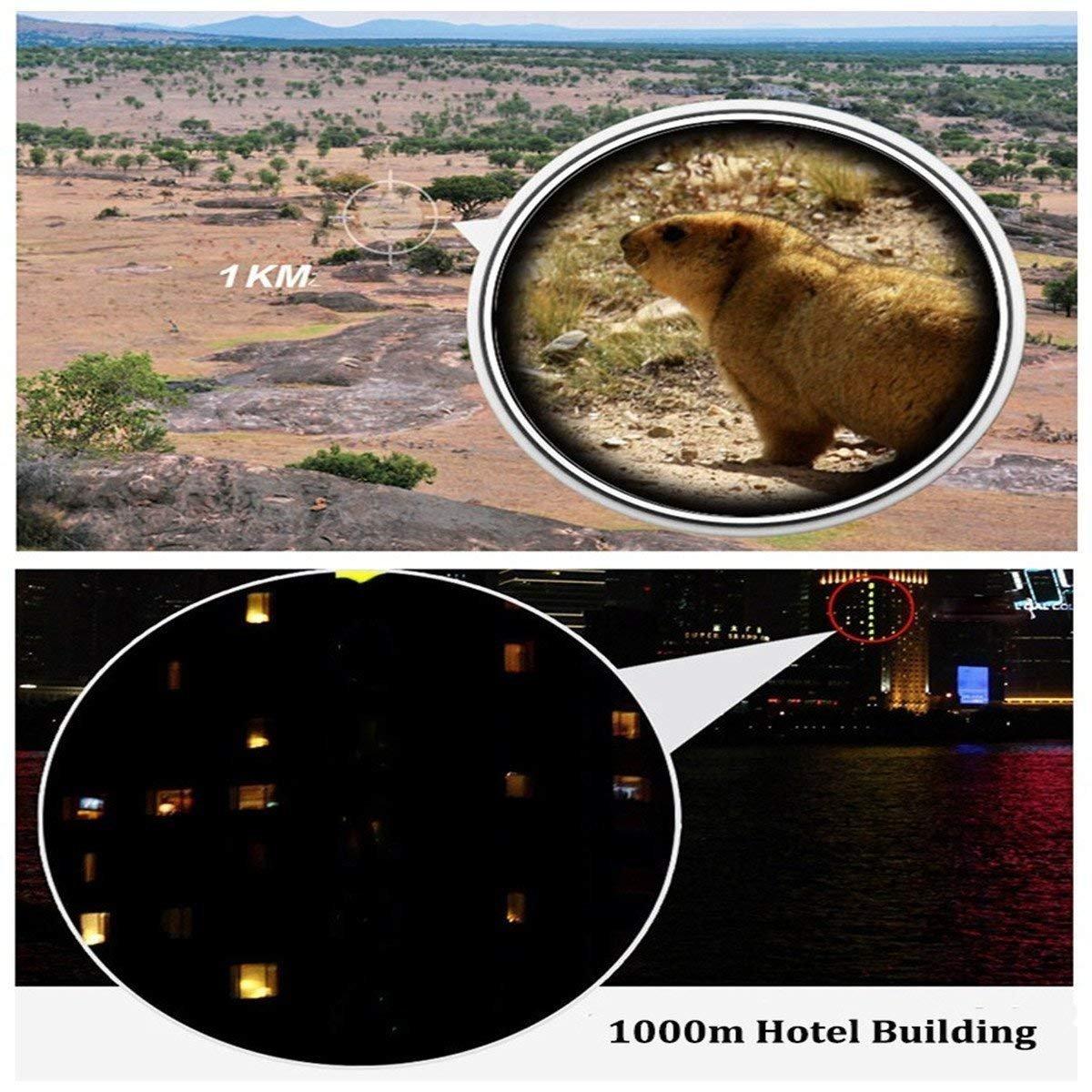 SGODDE 15-45 x 60 Zoom impermeable monocular telescopio de un solo tubo HD con tr/ípode estuche y Digiscoping adaptador Telescopio Monocular