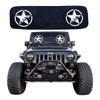 RoRex Jeep Wrangler Accessories JK,TJ,LJ,YJ Windshield Sunshade, fits Every Year Wrangler 1985-2020 Custom fit, Heat Shield Sun mat: Automotive