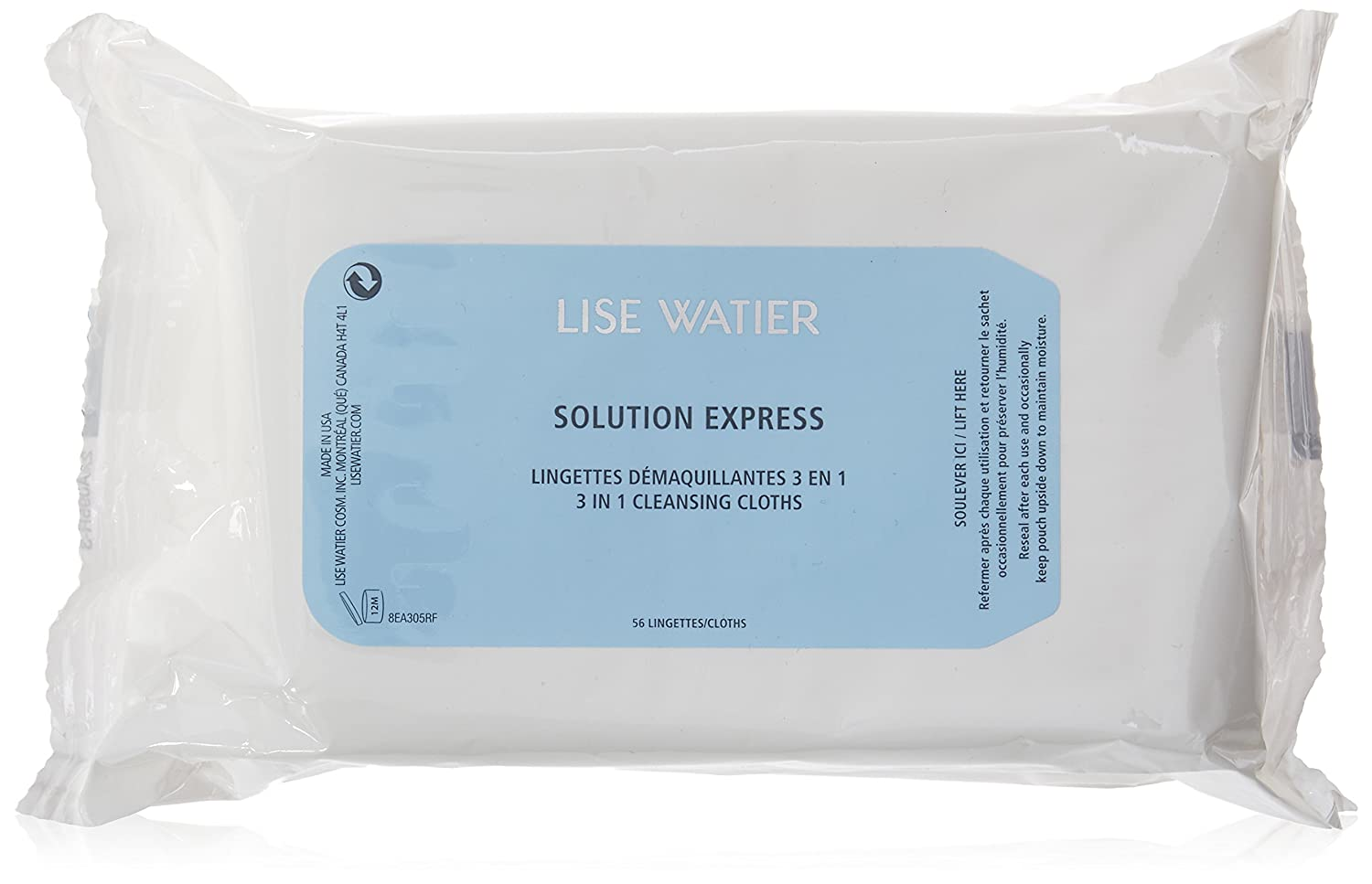 Lise Watier Solution Express Cleansing Cloths, 56 Count Marcelle group - Beauty