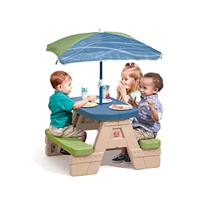 Miraculous Step2 Sit And Play Kids Picnic Table With Umbrella Pabps2019 Chair Design Images Pabps2019Com
