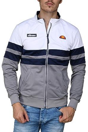 commander en ligne vraiment à l'aise gamme exceptionnelle de styles et de couleurs ellesse - Veste Homme zippée à Bandes - Couleur: Gris ...