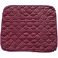 "RMS CP-600RR Absorbent Washable Reusable Incontinence Chair Seat Protector Pad, Underpad, 3-Layer Innovative Design, 350 Washes Guarantee, 21"" Width, 22"" Length, Ruby Red"